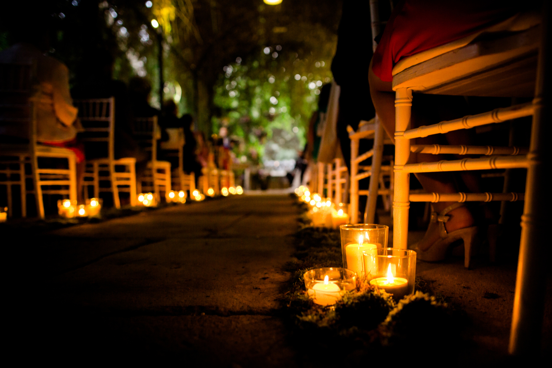 Boda de noche en los Jardines de Abril 22