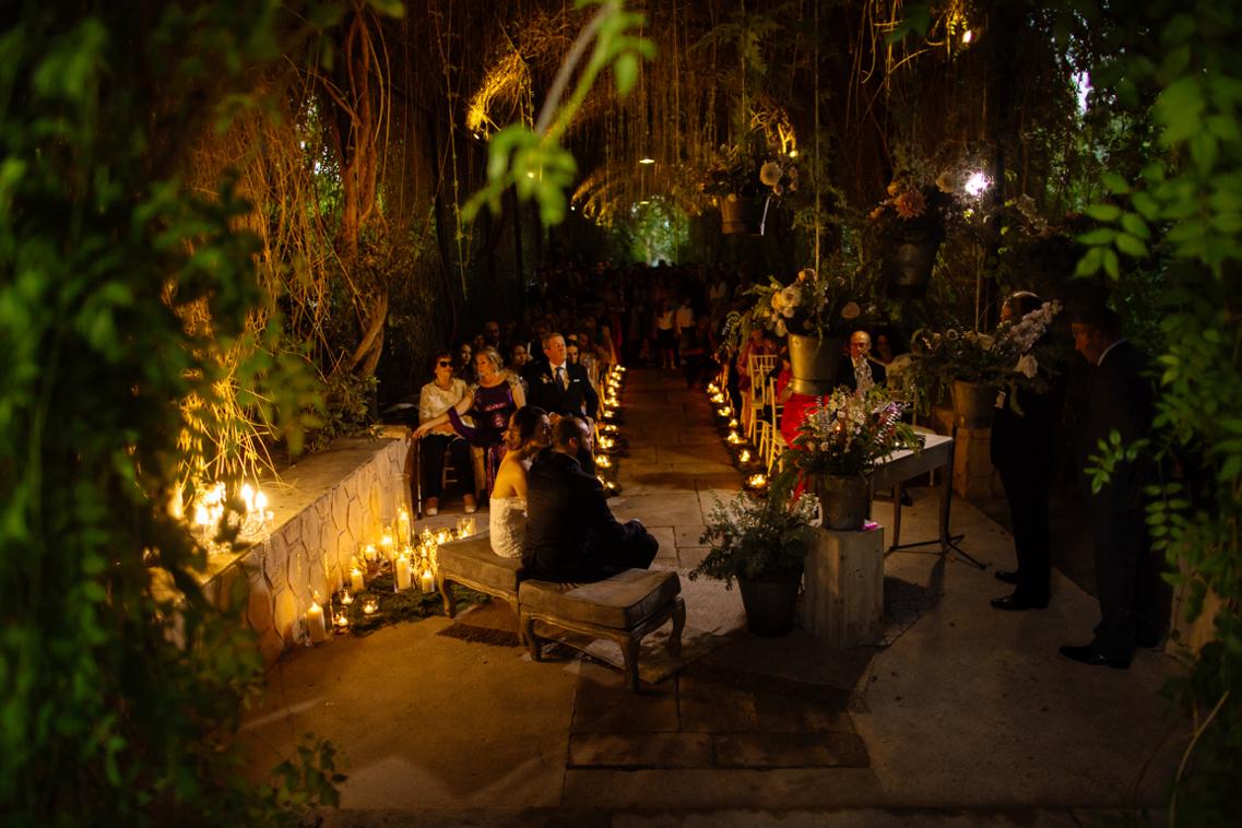 Boda de noche en los Jardines de Abril 26